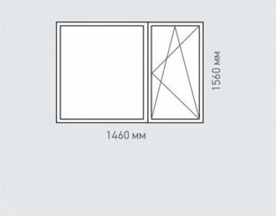 Окно двухстворчатое Rehau Grazio Серии   -57