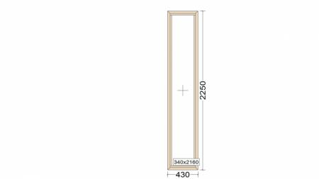 Алюминиевое окно серия 72 (теплое) 430*2250