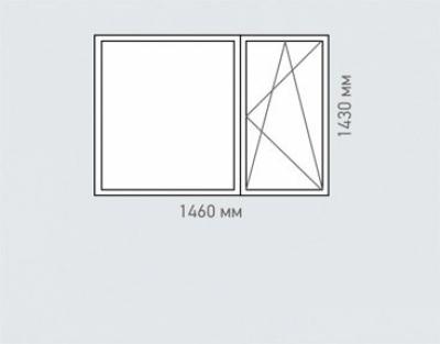 Окно двухстворчатое Rehau Brillant серия п-55