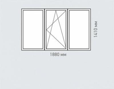 Окно трехстворчатое REHAU Estet для дома серии I-515-9М