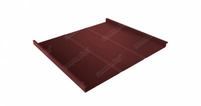 Фальц двойной стоячий Профи 0,5 Satin с пленкой на замках RAL 3009 оксидно-красный