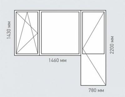 Балконный блок Rehau Brillant серия п-42