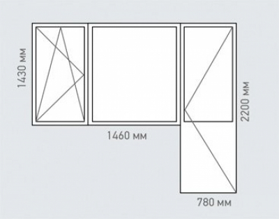 Балконный блок Rehau Brillant серия п-55