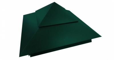 Колпак на столб двойной 390х390мм 0,5 Atlas с пленкой RAL 6005 зеленый мох