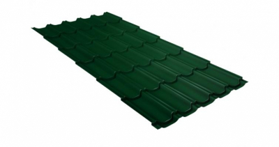 Металлочерепица квинта плюс 0,45 Drap RAL 6005 зеленый мох