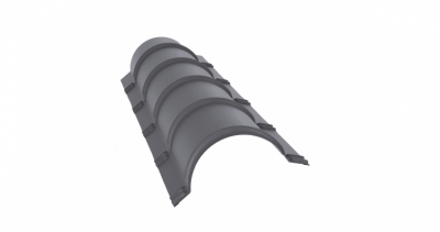 Планка малого конька полукруглого 0,45 PE с пленкой RAL 7004 сигнальный серый