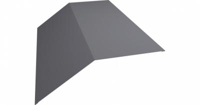 Планка конька плоского 145х145 0,45 PE с пленкой RAL 7004 сигнальный серый