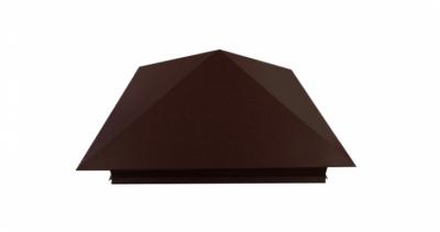 Колпак на столб 390х390мм 0,5 Atlas с пленкой RAL 8017 шоколад