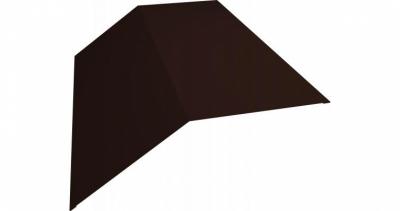 Планка конька плоского 145х145 0,5 Satin с пленкой RAL 8017 шоколад