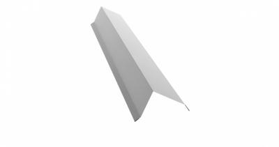 Планка торцевая 80х100 0,5 Satin с пленкой RAL 9003 сигнальный белый