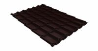 Металлочерепица классик 0,45 PE RAL 8017 шоколад