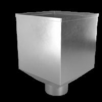 Воронка водосборная LINKOR Ø 100мм (255,5-ш/220-в) (алюминий толщина 1,2 мм)
