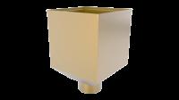 Воронка водосборная LINKOR Ø 100мм (255,5-ш/220-в) (алюминий толщина 1,2 мм)RAL 1015