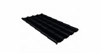 Металлочерепица камея Grand Line 0,5 Quarzit lite RAL 9005 черный