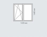 Окно двухстворчатое Rehau Grazio для дома серии П-55м