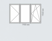 Окно трехстворчатое Rehau Brillant серия и-700а