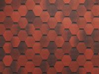 Гибкая черепица мозайка красный гранит