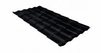 Металлочерепица кредо 0,5 Стальной бархат RAL 9005 черный