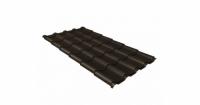 Металлочерепица камея Grand Line 0,5 Стальной бархат RR 32 темно-коричневый