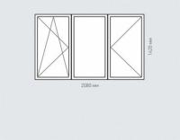 Окно трехстворчатое Rehau Grazio для дома серии П-46м