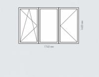 Окно трехстворчатое Rehau Brillant для домов серии п-43