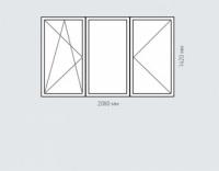 Окно трехстворчатое Rehau Brillant для домов серии п-30