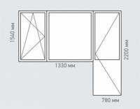 Балконный блок Rehau Brillant серия и-700а