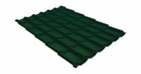 Металлочерепица модерн 0,45 PE RAL 6005 зеленый мох