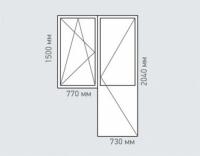 Балконный блок Rehau Grazio для дома серии и-68