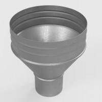 Воронка водосборная металл RAL 9003