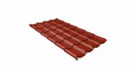 Металлочерепица камея Grand Line 0,5 Velur20 RAL 3009 оксидно-красный