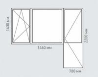 Балконный блок Rehau Grazio для дома серии П-55