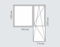 Балконный блок Rehau Grazio для дома серии П-55м