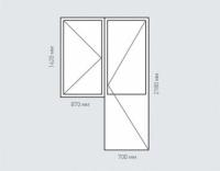 Балконный блок Rehau Grazio для дома серии П-46м