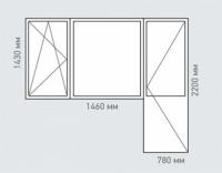 Балконный блок Rehau Grazio для дома серии П-46