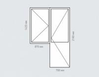 Балконный блок Rehau Delight для домов серии п-30