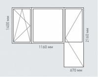Балконный блок Rehau Delight для домов серии п-3