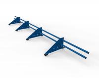 Снегозадержатель Premium для фальца оцинкованный 3 м 4 опоры RAL 5005