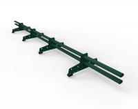 Снегозадержатель D-Bork для м/ч оцинкованный 3 м 4 опоры RAL 6005