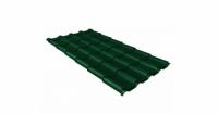 Металлочерепица камея Grand Line 0,5 Velur20 RAL 6005 зеленый мох
