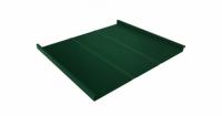 Фальц двойной стоячий Профи 0,45 PE с пленкой на замках RAL 6005 зеленый мох