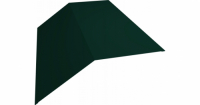 Планка конька плоского 145х145 0,4 PE с пленкой RAL 6005 зеленый мох