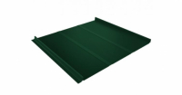 Кликфальц Профи 0,5 Satin с пленкой на замках RAL 6005 зеленый мох
