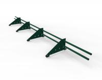 Снегозадержатель Premium для фальца оцинкованный 3 м 4 опоры RAL 6005