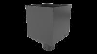 Воронка водосборная LINKOR Ø 100мм (255,5-ш/220-в) (алюминий толщина 1,2 мм)RAL 7024