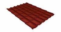 Металлочерепица модерн 0,45 Drap RAL 3009 оксидно-красный