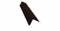 Планка торцевая 80х100 0,5 Satin с пленкой RAL 8017 шоколад