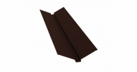 Планка ендовы верхней 115х30х115 0,4 PE с пленкой RAL 8017 шоколад