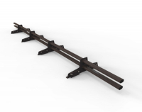 Снегозадержатель D-Bork для фальца оцинкованный 3 м 4 опоры RAL 8019