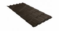 Металлочерепица квинта плюс 0,5 GreenCoat Pural Matt RR 32 темно-коричневый (RAL 8019 серо-коричневый)